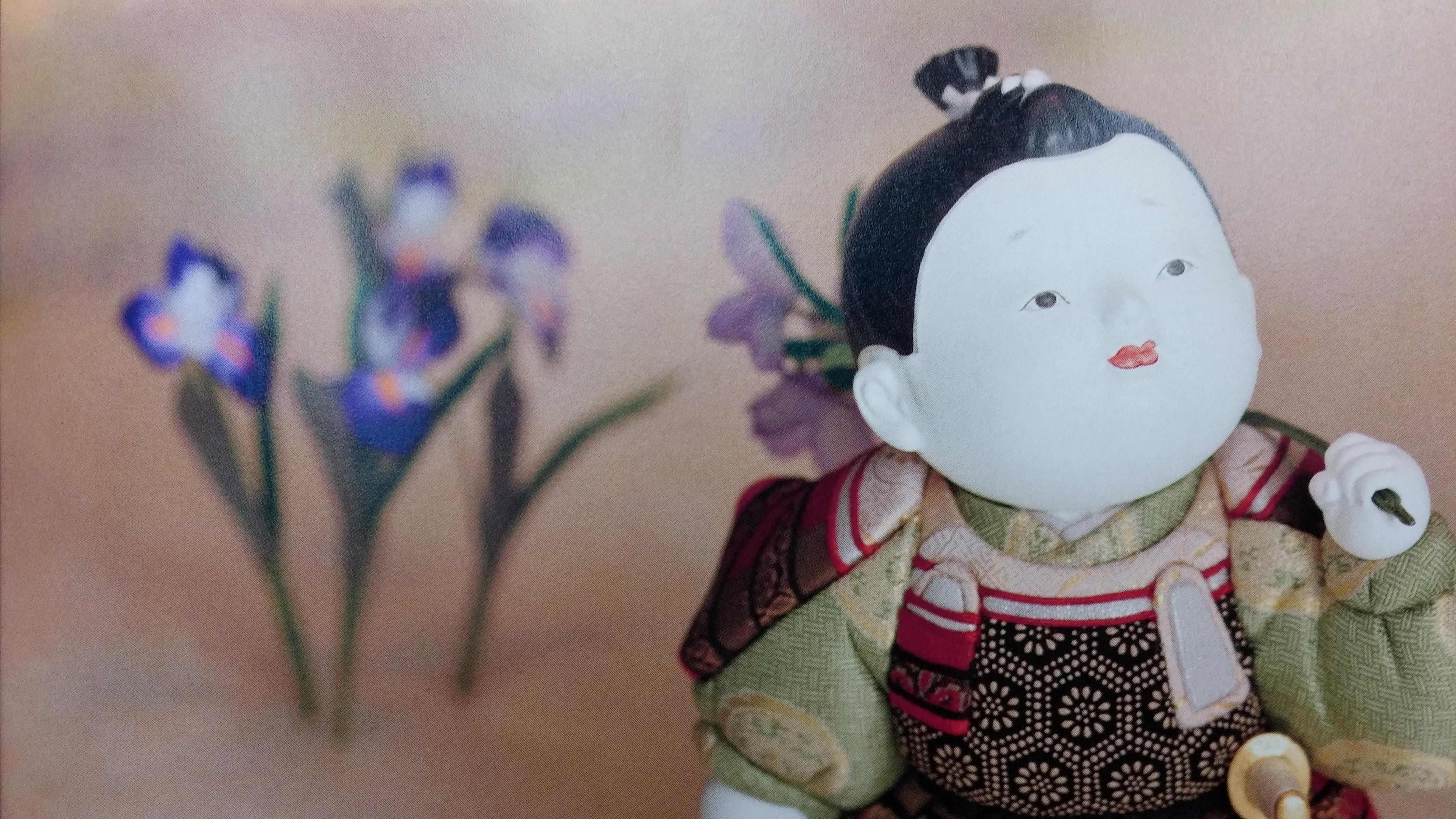 御所童子 颯(はやて) 颯爽とした男児へ成長してほしいとの願いを込めて。 東玉工房の伝統技法が生み出した新しい五月人形、鎧や兜とともにお飾りください